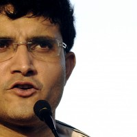 Former Indian cricket captain Sourav Ganguly speaks at a ceremony held in honour of him, organised by the Tripura Cricket Association in Agartala, the capital of India's north eastern state of Tripura September 13, 2009. REUTERS/Jayanta Dey (INDIA SPORT CRICKET HEADSHOT) - RTR27S2V